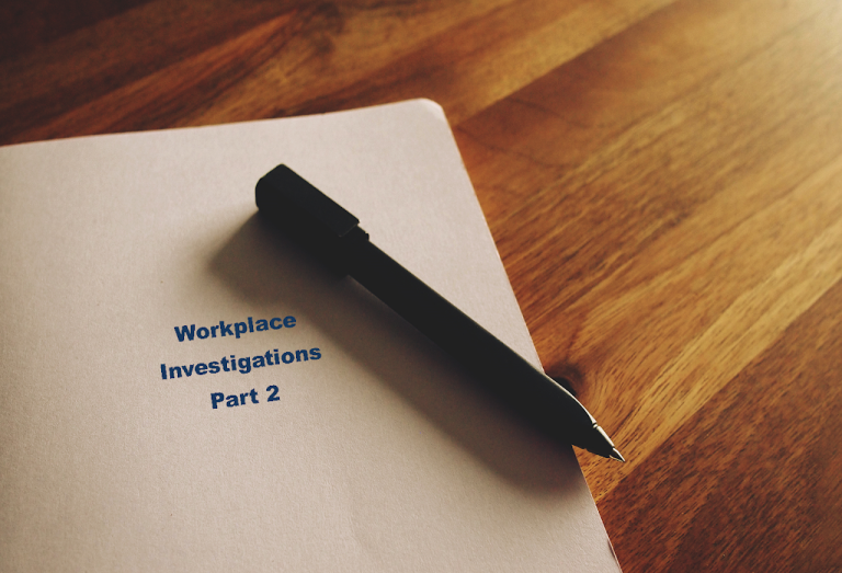 Workplace investigation file folder with pen - part 2
