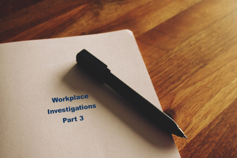 Workplace investigation file folder with pen - part 3